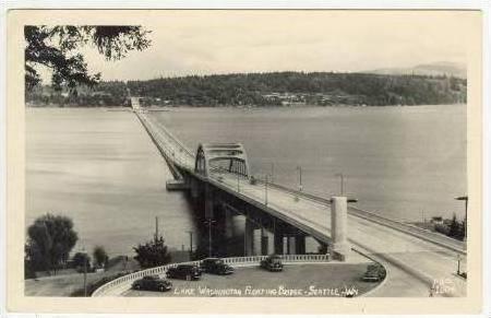 RP   Floating   Bridge, Lake Washington, Seattle, Washintgton, 30-40s, ELLIS ...