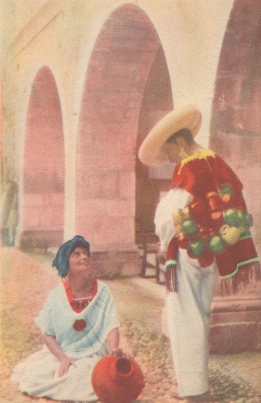 Indian Type From Cuetzalan Antique Mexican Painting Postcard