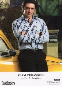 Adam Croasdell as Dr Al Jenkins BBC Eastenders Hand Signed Photo & Letter