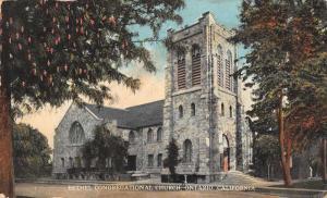 Ontario California view of Bethel Congregational Church antique pc Z26735