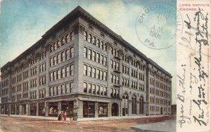 Lewis Institute Building Chicago Illinois 1906 postcard
