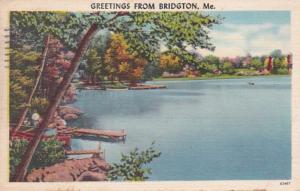 Maine Greetings From Bridgton 1960