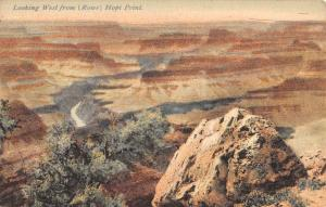 Grand Canyon Arizona Looking West Hopi Point Rowe Antique Postcard K19684