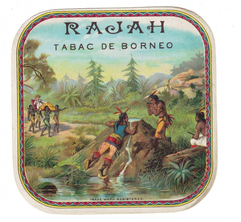 HI1063 RARE   CIGARBOX LABEL SET  RAJAH,  FIRST AMERICAINS, FOUNTAIN OF YOUTH