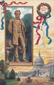 The St Gaudens Statue and The U S Capitol Building Signed Chapman