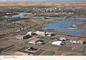Aerial View of University of Regina, Campus, Saskatchewan, Canada, 50-70s