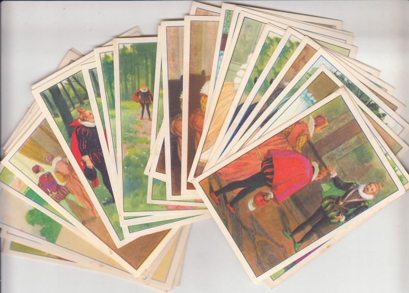 Riquet a la Houppe 52 tale trade cards VICTORIA Images chocolate & biscuits ads