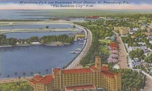 Florida St Petersburg Waterfront Park And Downtown Hotel District The Sunshin...