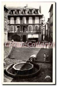 Old Postcard Villefranche de Rouergue Former public fountain or Grifoul
