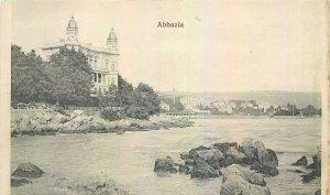 Postcard Croatia Abbazia church