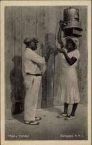 Barbados Mauby Drink Vendor Local Woman Ethnography Postcard