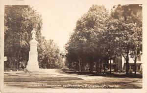 Brandon Vermont Soldiers Monument Real Photo Antique Postcard K95812