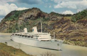 Swedish American Line's DeLuxe Cruise Liners, Gaillard Cut Of Panama Canal, 1962