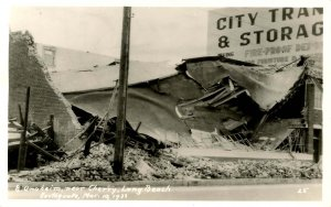 CA - Long Beach. 1933 Earthquake Ruins, Anaheim near Cherry.  *RPPC