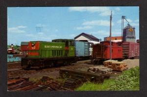ME BELFAST & Moosehead Lake Railroad Train MAINE PC