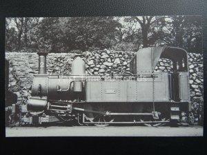 Isle of Man Railway ENGINE No.2 DERBY AT DOUGLAS 1939 c1980's Postcard