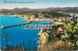 Postcard Old Nice view from the Mont Boron