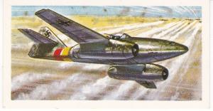 Trade Card Brooke Bond Tea History of Aviation black back reprint No 29 Messer-