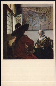 Officer and Laughing Girl Jan Vermeer The Frick Collection NY - Und/B Vintage