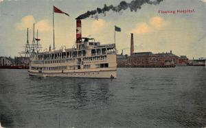 The Boston Floating Hospital, Boston, Massachusetts, Early Postcard, Unused