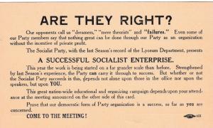 Successful Socialist Enterprise , Party meeting notice, 1930s