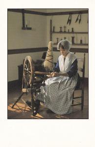 Kentucky Sewing Wheel Seamstress American Victorian Shop Postcard