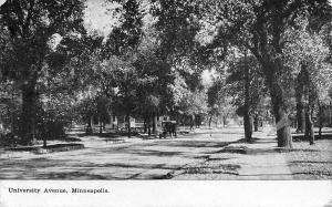 Minneapolis Minnesota~University Avenue Homes~Vintage Car on Shady Street~1908