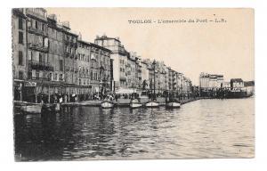 France Toulon L'ensemble du Port L. R. boats Vintage Postcard