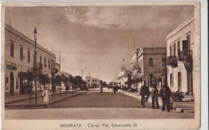 Libia Lybia Misurata animated street view 1940s Corso Vittorio Emanuele III