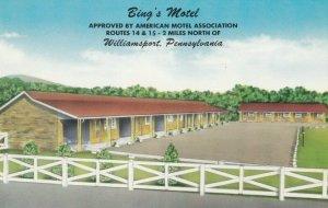 WILLIAMSPORT , PENN., 1950-60s ; Bing's Motel