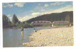 Fishing , Kitimat River , KITIMAT , B.C.  , Canada , 1950s