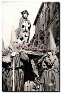 Postcard Modern Perpignan Holy Week procession in Roussillon La Sanch L & # 3...