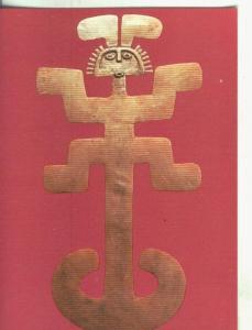 Postal 000812: Arte Precolombino: Pectoral de Tolima en Colombia