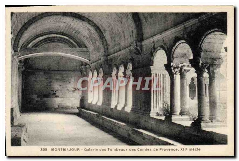 Old Postcard Montmajour Gallery Tombs of XII century Counts of Provence