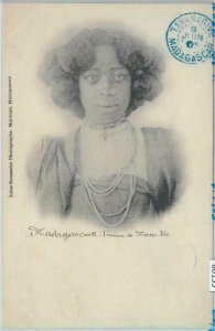 80155 -  MADAGASCAR -  Vintage Postcard - ETHNIC : Nossi-Be  female 1903