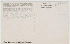 CUBA HAVANA PAN AMERICAN AIRLINES ADVERTISING MORRO CASTLE Postcard
