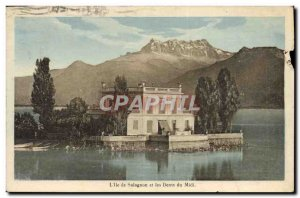 Old Postcard L & # 39ile Salagnon and the Dents du Midi