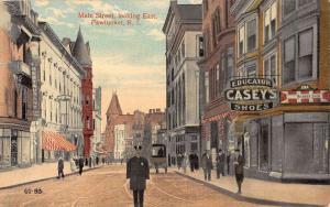 Pawtucket Rhode Island Main Street Looking East Stores Antique Postcard K12526