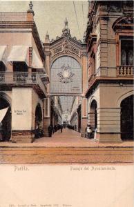 PUEBLA MEXICO PASAJE del AYUNTAMIENTO~LATAPI y BERT #192 POSTCARD 1900s