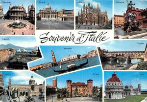 Italy Souvenir d'Italie multiviews Roma Firenze Pisa Torino Genova Napoli