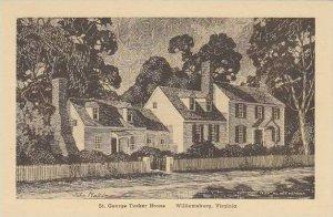 Virginia Williamsburg St George Tucker House Albertype