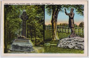 Irish Brigade & Father Corby Monuments, Gettysburg PA