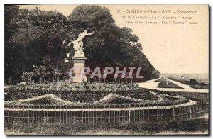 Old Postcard Saint Germain en Laye Prospect Terrace Torrent statue