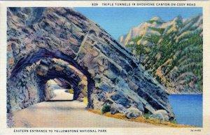 [ Linen ] US Wyoming Yellowstone - Triple Tunnels