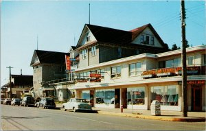 Campbell River BC Jeweller Cafe Gavan Wood Downtown Unused Postcard G30