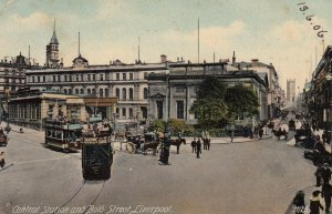 LIVERPOOL , Lancashire , England , 1906 ; Central Station & Bold Street
