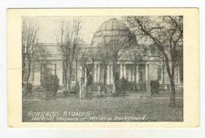 National Museum Of Wales In Background, Gorsedd Stones, Wales, UK, 1900-1910s