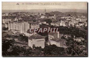 Old Postcard Chatel Guyon General view and Calvary