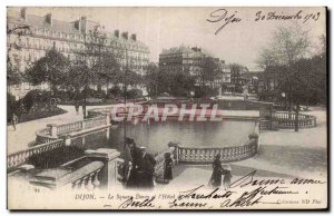 Old Postcard Dijon Square and hotel bell