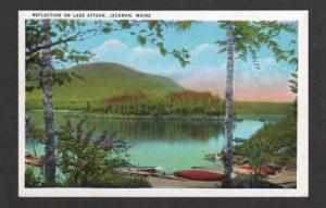 ME View of Lake Attean in JACKMAN MAINE Postcard PC